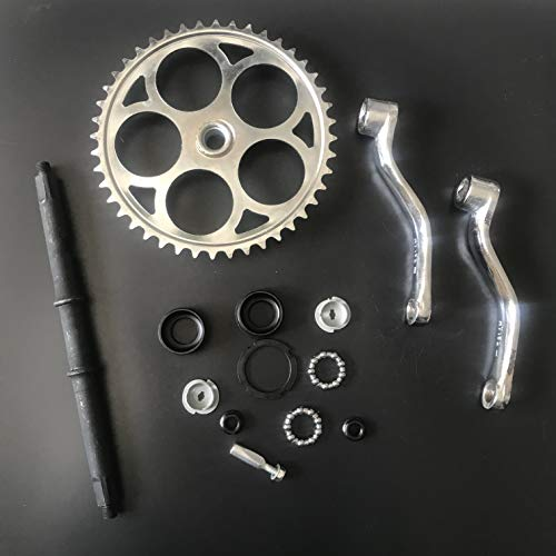 dolphin1986 44T Sprocket Wide Crank Assembly Kit -3pcs, for 4-Stroke Motor,Gas Motorized Bicycle by dolphin1986 (Image #1)