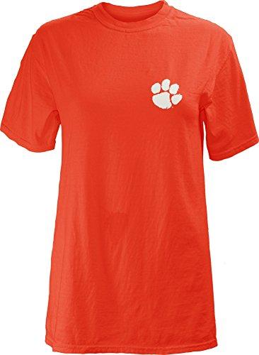 - NCAA Clemson Tigers Legacy Short Sleeve Garment Washed T-Shirt, Large, Orange
