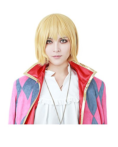 Miccostumes Men's Howl Cosplay Wig (Yellow),One Size