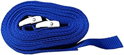 Blue Westward Rope and Wire Pair of 25mm x 8 Metre Kayak Cam Straps with Protective Pad