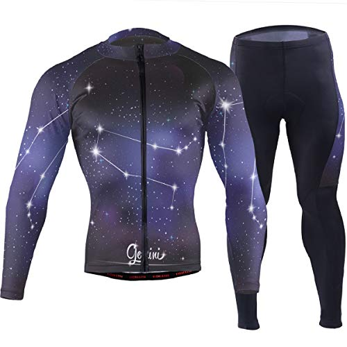 Cycling Clothes Bicycle Shirt Jerseys Pants Gemini of The Twelve Constellations Suit M