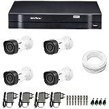 Kit de Câmeras de Segurança - Dvr Intelbras 4 Ch G2 Tríbrido Hdcvi + 4 Câmeras Infra Vhd 1010b Hd 720p + Acessórios