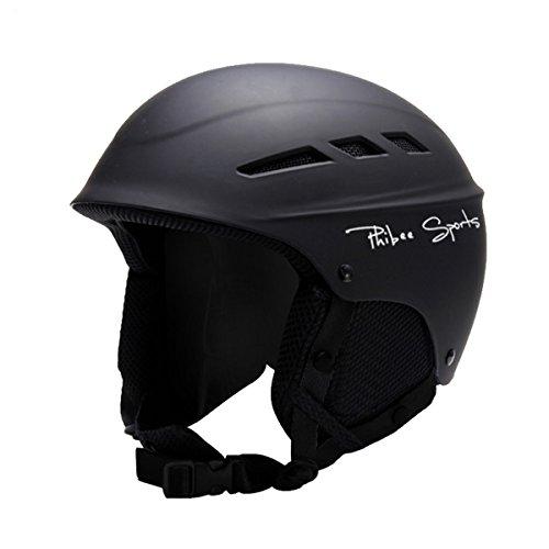 Phibee Unisex Snow Sport Lightweight EPS Outdoor Ski Helmet Black L
