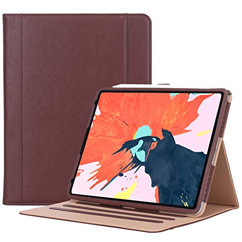- ProCase iPad Pro 12.9 Case 2018 3rd Generation, Vintage Stand Folio Cover Protective Case for Apple iPad Pro 12.9 Inch 2018 Release, Support Apple Pencil Charging -Brown