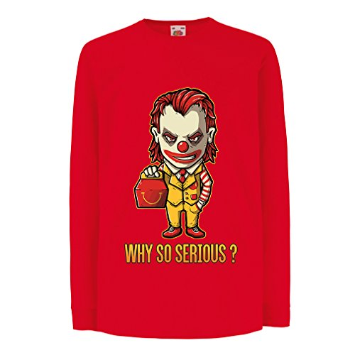 lepni.me T-Shirt for Kids Why So Serious? (12-13 Years Red Multi Color)]()