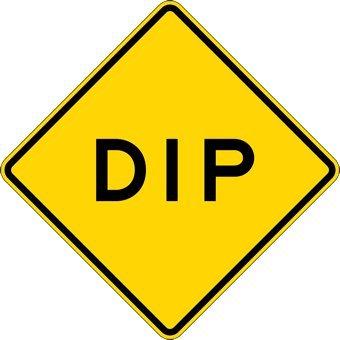 Dip Warning Road Signs 24x24 Yard Signs Amazon Com Industrial