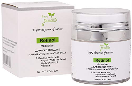 41DmFP8fNEL - Retinol Moisturizer for Face and Eye Area - Wrinkle Cream for Women - Retinol Night Cream with Retinol, Hyaluronic Acid, Shea butter and Vitamin E - 1.7oz / 50m