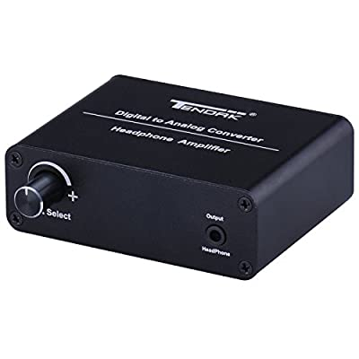 Tendak Digital to Analog Converter Portable DAC Headphone Amplifier AMP Support Coaxial/ Toslink / SPDIF / Optical to 3.5mm & Analog L/R Audio