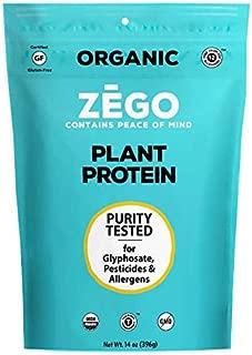 product image for ZEGO Foods Plant Protein Powder, Organic, Vegan, Gluten Free, Soy Free, Glyphosate Free 14oz