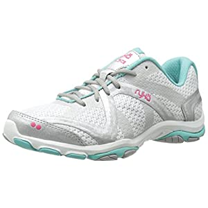 RYKA Women's Influence Cross-Training Shoe, Influence/White/Aqua/Pink, 8 M US