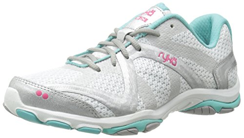 RYKA Women's Influence Cross-Training Shoe, Influence/White/Aqua/Pink, 8.5 M US (Ryka Studio Womens)