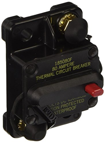 (Bussmann CB185-80 Waterproof High Amp Flush Mount Type III (3) Circuit Breaker (80 Amp), 1 Pack)