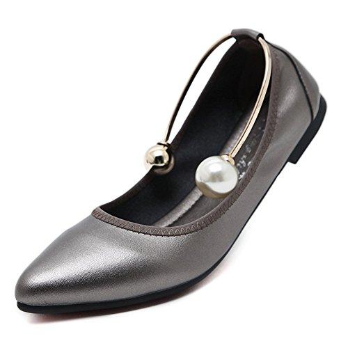 Summer C Size da Scarpe Microfiber Donna Comfort Large Flat Casual Heel per Toe Flats Pointed Scarpe Camminata da wtqTtxd
