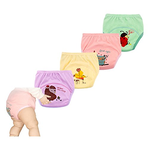 smart sisi Training Pants for Baby 4 Pack(110 Pink) - Nylon Diaper Pants