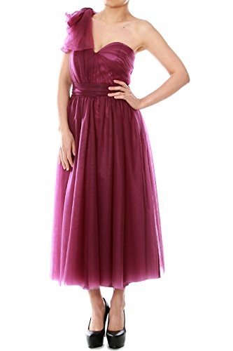 Wedding Party Formal Tea Fuchsia Dress Length MACloth Gown Bridesmaid Convertible Tulle 0w8YZ7qp7n