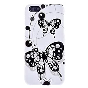 Cool Black Butterfly Pattern Hard Case for iPhone 5/5S