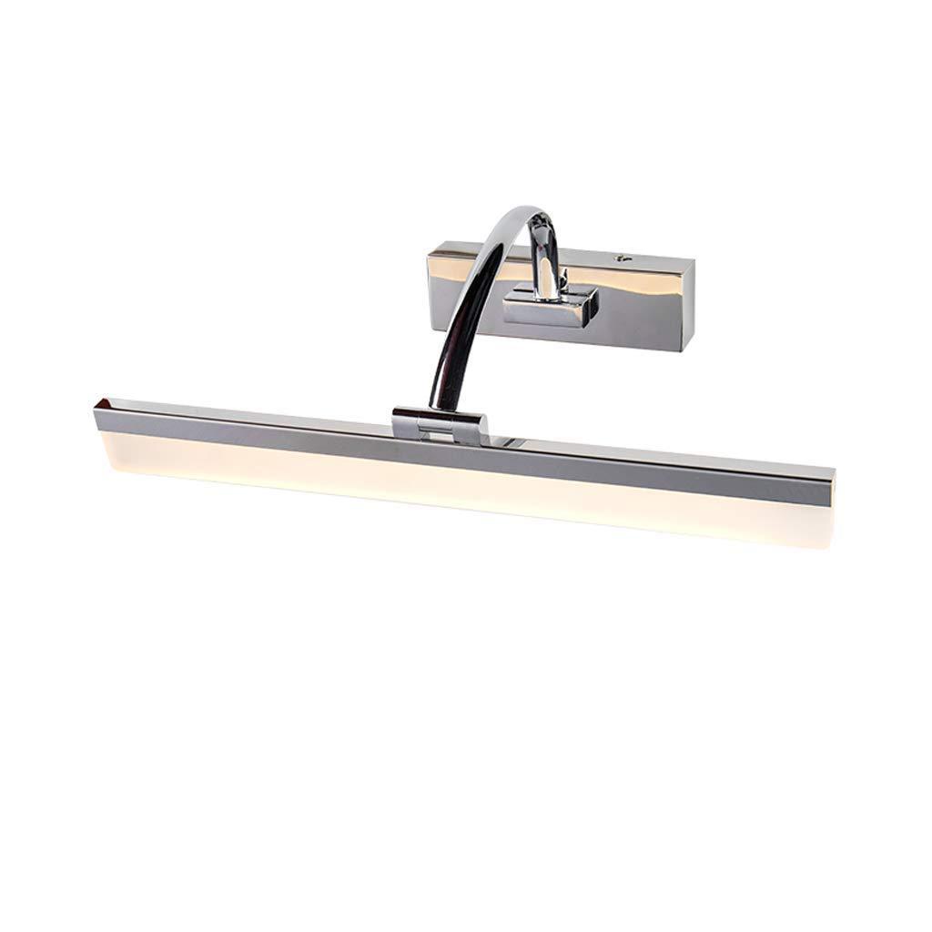 FJH LED Badezimmer Spiegel Scheinwerfer moderne minimalistische Schminktisch Make-up Schrank Lampe Wandleuchte wasserdicht Anti-Fog Drei-Farben einstellbar (Größe   40cm 9W)