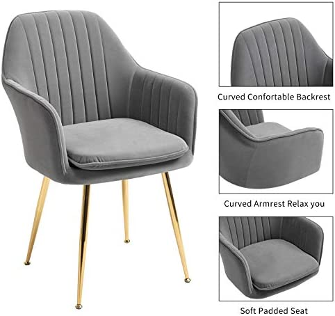 AVAWING Modern Living Dining Room Accent Arm Chairs Set of 4