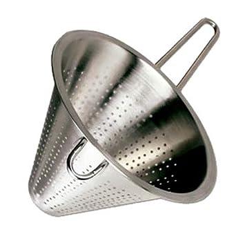 MGE - Colador Chino de Cocina - Diámetro 22 cm - Acero Inoxidable - Plata