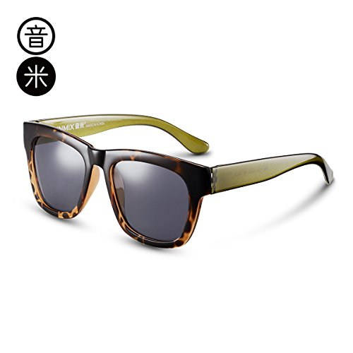 KOMNY Leg lijado Ash cara espejo de conductor de hombres de gafas del para negro Green sol gafas polarizadas gafas plata marco conducción sol estrellas Frame Amber Retro rTFqwx4OrC