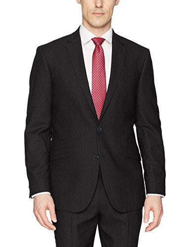Kenneth Cole REACTION Men's Techni-Cole Stretch Slim Fit Suit Separate Blazer (Blazer, Pant, and Vest), Charcoal Tic, 40 Short ()