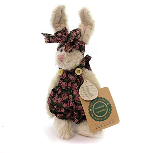 BOYDS BEARS PLUSH Hannah Rabbit Fabric Bunny Archive Collection Roses 91111