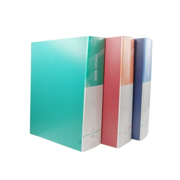DishanKart Kolor Nine Premium Quality A4 Display Book Pack of 2, Assorted Colors, Office Supplies, School, Document Holder (100 Pockets) 1