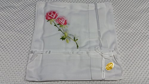kies/ set of 6 vintage new cotton handkerchief / red rose hankie / blue rose hankie/ yellow hankie 2 of each color ()