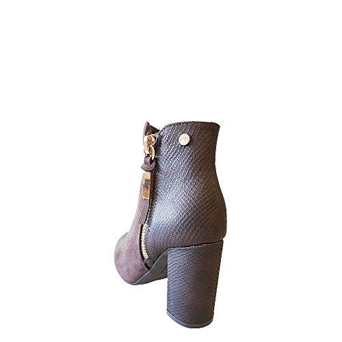 amp; Braun 030456 XTI Taupe Taupe Damen Stiefel Stiefeletten gXtywqUFx