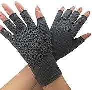 Dsxnklnd Luvas unissex de compressão para artrite e mãos texturizadas, abertas, alívio da dor nas articulações