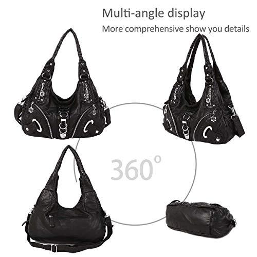 Slouch bags women Crossbody DORIS for Handbags NICOLE Black Bag Hobo Large Totes New Shoulder amp; Stylish g1nwTqnC0