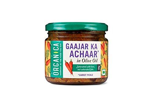 Orgánica de aceite de oliva zanahoria salmuera 300g certificada por FSSAI: Amazon.es: Alimentación y bebidas