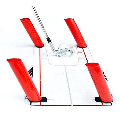 Resource Academy Golf Swing Training Set - Improve Swing Path - Baseboard Plus 5 Rods by Resource Academy