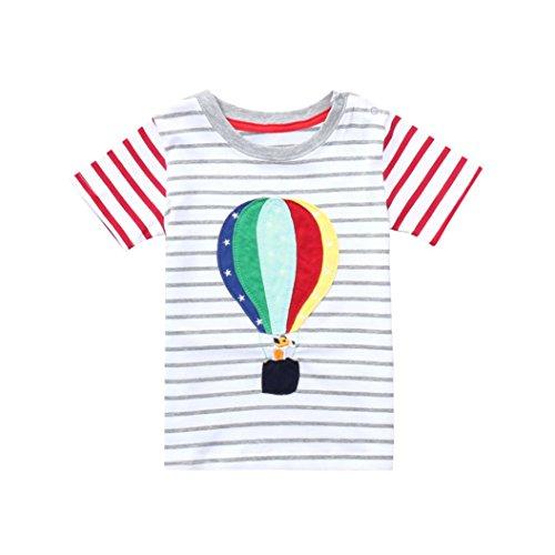s Boys Summer Short Sleeve Tops O Neck Cartoon Cotton Tee Shirt (5T, Multicolor) (Toddler Multi Apparel)
