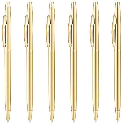 Best Police Ink Pens - Unibene Slim Metallic Retractable Ballpoint Pens