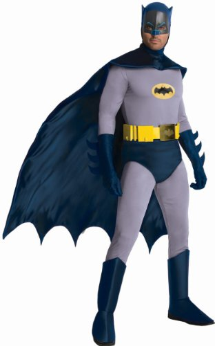 Rubie's Costume Grand Heritage Classic TV Batman Circa 1966, Blue/Gray, Standard (Batman Costumes Adult)