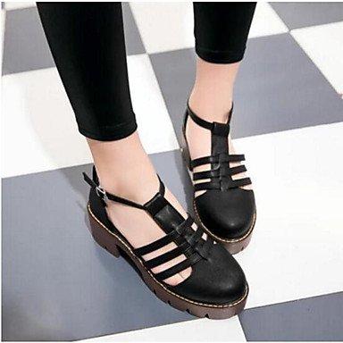 Las mujeres 039 s sandalias verano PU Confort confort informal Almendra Gris negro 2A-2 3 4 UK5.5 inAlmondUS7.5 UE38 CN38 US6.5-7 / EU37 / UK4.5-5 / CN37