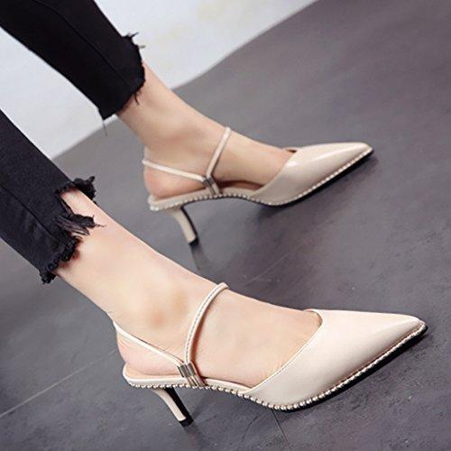 FLYRCX Los dos métodos de uso de tacón alto talón zapatos de tacón en primavera y verano b