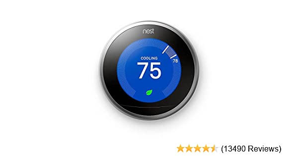 Nest (T3007ES) Learning Thermostat, Easy Temperature Control for Every Room in Your House, Stainless Steel (Third Generation), Works with Alexa - - Amazon. ...