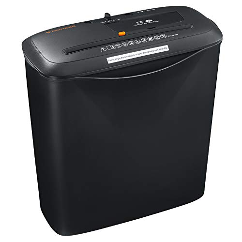 Bonsaii 6-Sheet Strip-Cut Paper/Credit Card/CD Shredder with 3.4 Gallons Wastebasket(S120-A)