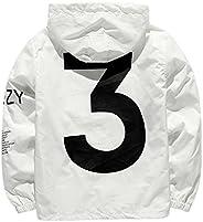 Windbreaker Jacket Hooded Letters Printed Elastic Bottom Long Sleeve Jacket