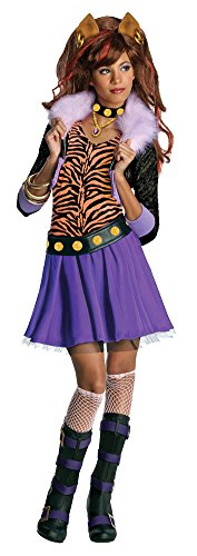 [Kids-Costume Clawdeen Wolf Md Halloween Costume - Child Medium] (Clawdeen Wolf Costumes With Wig)