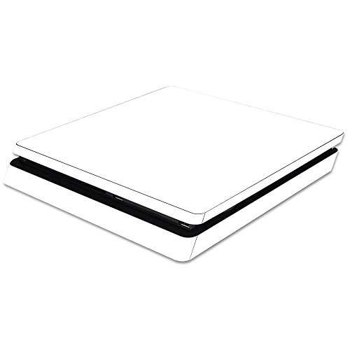 MightySkins Skin for Sony PS4 Slim Console - Solid White | Protective, Durable, and Unique Vinyl Decal wrap Cover | Easy to Apply, Remove, and Change Styles | Made in The USA