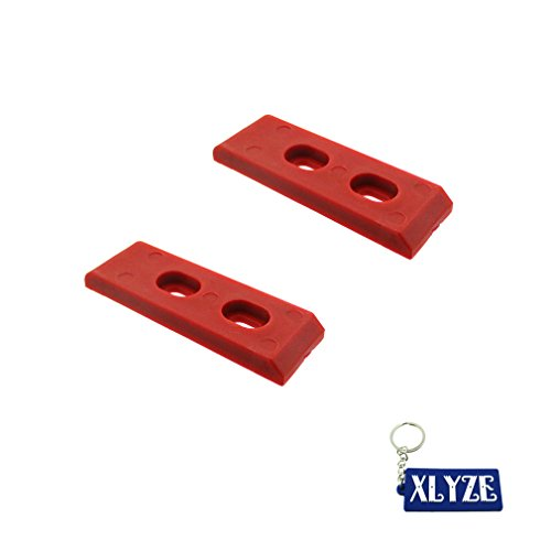Chain Swing Arm (XLYZE 2x Red Nylon Chain Slider Swing Arm Guard Protector For 50cc 110cc 125cc 140cc 150cc 160cc Pit Dirt Bikes)