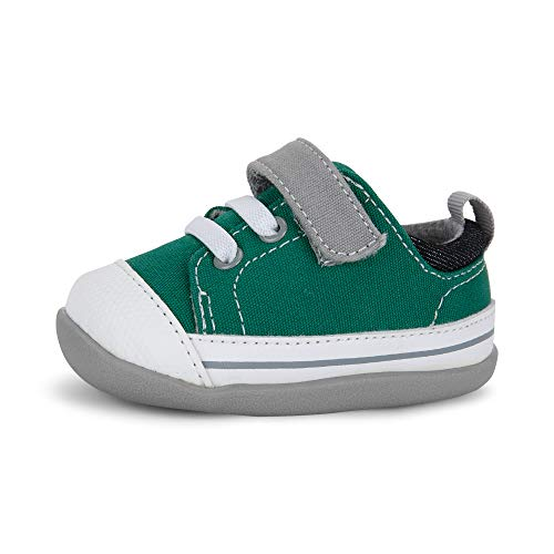 See Kai Run - Stevie II Sneakers for Infants, Green/Gray, 5