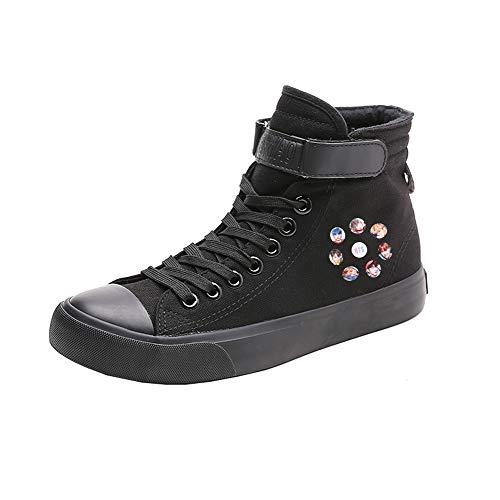 Spring De Black14 Zapatos Alta Lazada Caballero Ocasionales Ayuda Lona Transpirables Bts qSI7wntt