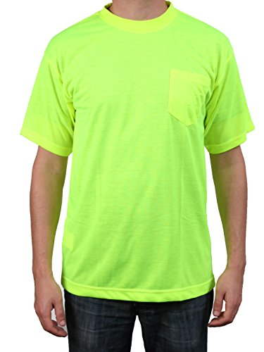Safety Depot High Visibility Safety Shirt Short Sleeve Moisture Wicking Soft Polyester (Lime, 3XL) by 2W International (Image #1)