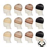 #6: REECHO 12 Pack Wig Caps for Women Men Stocking Nylon