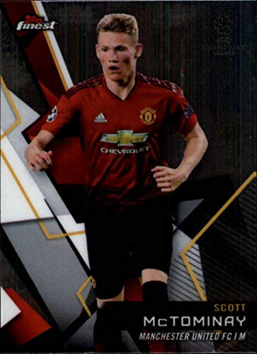 2018-19 Finest UEFA Champions League #16 Scott McTominay Manchester United FC Soccer Card