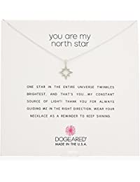"""Dogeared ReminderYou Are My North Star Necklace, Open North Star Chain Necklace, 16"""" + 2"""" Extender"""